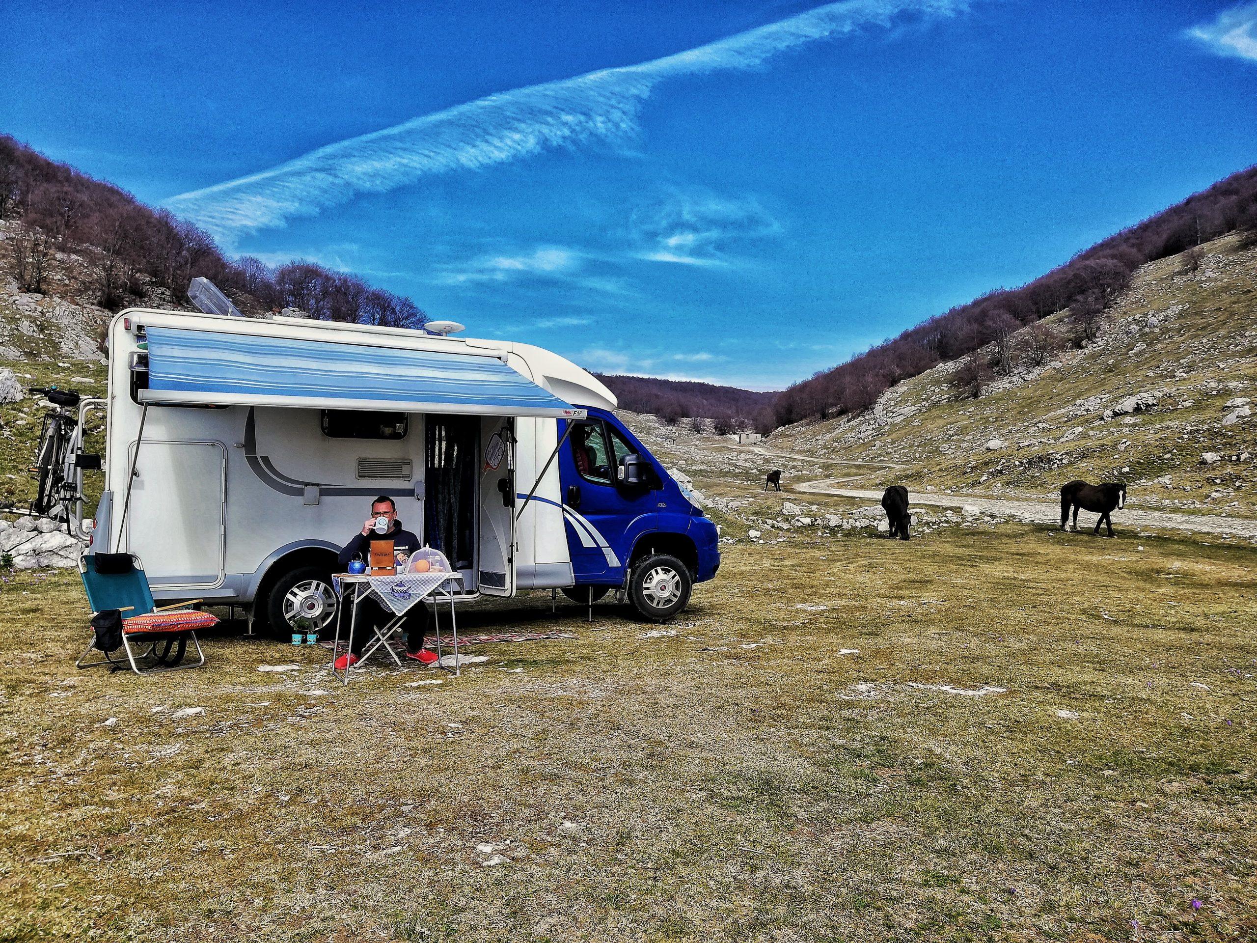 Una foto di Cristiano Fabris e il suo camper